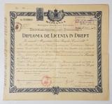 Diploma de Licenta in Drept - 1940 - Universitatea din București