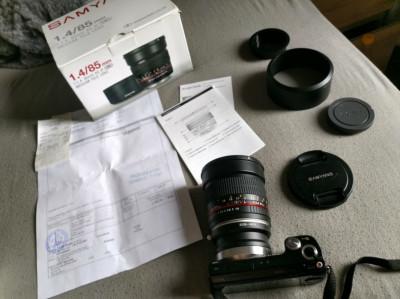 Obiectiv Samyang f1,4 85 mm AS IF UMC - montura Canon, Sony nex foto
