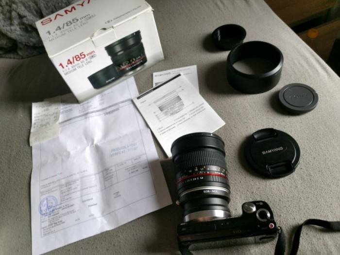 Obiectiv Samyang f1,4 85 mm AS IF UMC - montura Canon, Sony nex