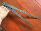 Scule / Unelte vechi - compas din metal dimensiuni mari model deosebit !