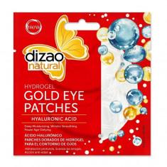 Plasturi ochi/Masca cu acid hialuronic, 5 buc, Dizao Natural