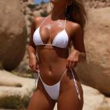 Cumpara ieftin Costum de baie mini reglabil snur sexy Sutien Bikini Tanga Lady Lust Push Up