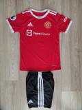 Echipament Ronaldo Manchester United- copii 5-14 ani MODEL 2021, XS/S, YL, YM, YS, YXL, YXXL, Tricou + Pantalon