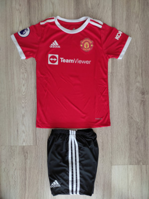 Echipament Ronaldo Manchester United- copii 5-14 ani MODEL 2021 foto