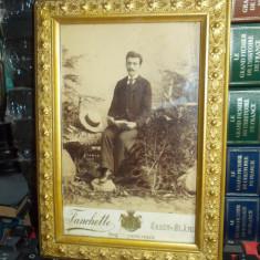 FOTOGRAFIE PE SUPORT DE CARTON , FANCHETTE , IASSY-SLANIC  , 1897 ( INRAMATA )