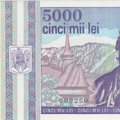 ROMANIA 5000 LEI 1993 UNC