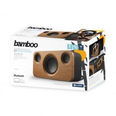 Boxa stereo 2.1 PLATINET Bamboo, Bluetooth, 35 W