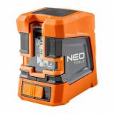 Cumpara ieftin Nivela laser, linie incrucisata, cu carcasa si suport magnetic, 15 m, NEO