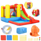 Cumpara ieftin Happy Hop Saltea gonflabilă cu tobogan și piscină, 350x280x190 cm, PVC