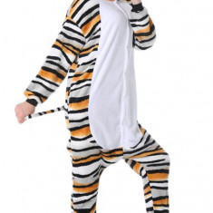 PJM183-82 Pijama intreaga model cu pisica colorata