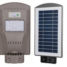 Lampa cu panou solar stradala 20w led proiector solar