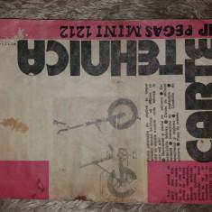 Pliant/carte tehnica  bicicleta Pegas Mini 1212  - raritate