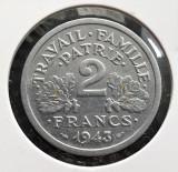 Franta 2 franci 1943 - transport gratuit