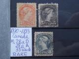 1870-1893-Canada-Mi=900$-RARE