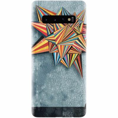 Husa silicon pentru Samsung Galaxy S10, Abstract Colorful Balloon Triangles foto