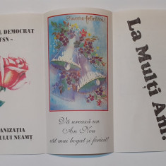 FSN F.S.N. - Felicitare De Sarbatori Anul Nou, Propaganda Anii '90  (RAR)