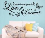 Sticker Dream Quote