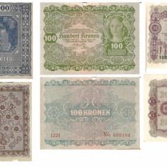 Lot de 3 bancnote -Austria 1922, Europa