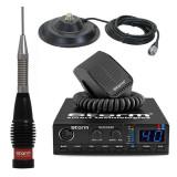 Cumpara ieftin Promotie statie radio CB Storm Defender + antena CB Storm ML 145 Black + baza...