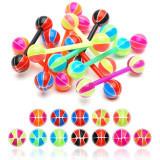 Piercing limbă basketball - Culoare Piercing: Verde - Ametist