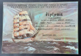 Diploma Navomodelism 1984 - Federatia romana de modelism - navomodele