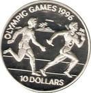 Insulele Solomon 10 Dollars 1994  Olympics) Argint 28.28 g/925, Aoc1 KM-53 UNC !