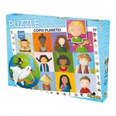 Puzzle 240 piese Lumea Vesela Copiii Planetei
