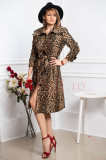 Trenci Atmosphere elegant cu imprimeu animal print
