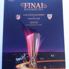 Program meci fotbal ATLETICO Madrid-ATHLETIC Bilbao (finala UEFA CUP 09.05.2012)