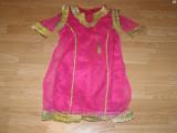 Costum carnaval serbare rochie traditionala india pentru copii de 9-10 ani, Din imagine