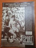 Sport iulie 1986-dinamo castigatorea cupei romaniei,steaua campioana