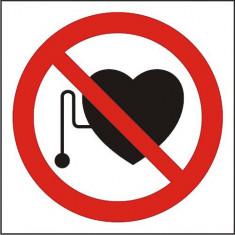 Indicator Interzis accesul persoanelor cu electrostimulatoare(2) - Semn Protectia Muncii