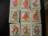Serie timbre flora flori plante Ungaria stampilate