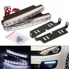 Set 2 proiectoare auto universale LED DRL