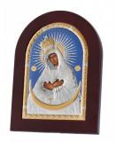 Maica Domnului Ostrobramskaya Foita de Argint 925 14x10cm Cod Produs 1518
