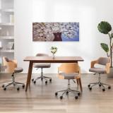 Set tablouri din pânză, vas cu flori, multicolor, 150 x 60 cm, vidaXL