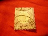 Timbru 1/4 gr. violet Germania 1872 scut mare , stamp., defect