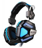 Casti Gaming Sandberg Cyclone, Microfon (Negru/Albastru)