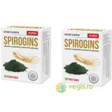 Spirogins - Spirulina si Ginseng 30cps Pachet 1+1