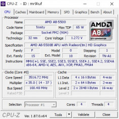 Procesor Gaming Quad Core AMD Trinity Vision A8-5500 3.2GHz Turbo 3.7GHz
