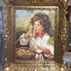 Tablou pictura Copil., Portrete, Ulei, Altul