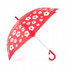 Umbrela copii imprimeu Floral Rosu