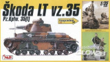 + Macheta 1/35 CMK 35023 - Skoda LT vz. 35 Pz.Kpfw cu figurine de rasina +