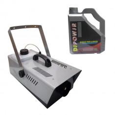 Masina de fum pentru petreceri telecomanda pedala inclusa 2000 KV lichid 4.5 L cadou