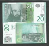 SERBIA  20   DINARI  DINARA   UNC  2011  [1]  P- 55 a  , necirculata