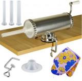 Carnatar Masina Aparat Manual Umplut Facut Carnat 1.5kg  5 Palnii + Manusa, Micul Fermier