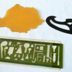 Sabloane scolare - harta Romaniei , Florar si sablon laborator chimie - RSR