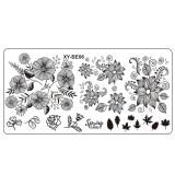 Cumpara ieftin Matrita Metalica Stampila Unghii XY-BE06 - Nature