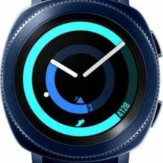 Smartwatch Samsung Gear Sport SM-R600, Procesor Dual-Core 1GHz, Circular Super AMOLED 1.2inch, 768MB RAM, 4GB Flash, Bluetooth, Wi-Fi, Bratara silicon