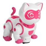 Pisica robot interactiva de jucarie, model cu miscari, sunete si lumini, 23x14x23 cm